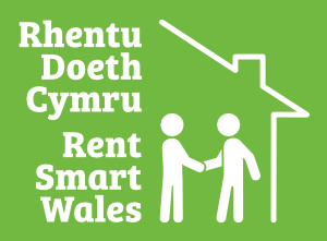 Rent Smart Wales Logo White 300w